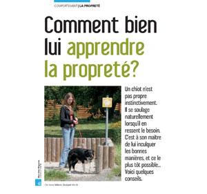 Apprendre à son chien à être propre, document écrit par Julie Willems, comportementaliste du chien à Bxl