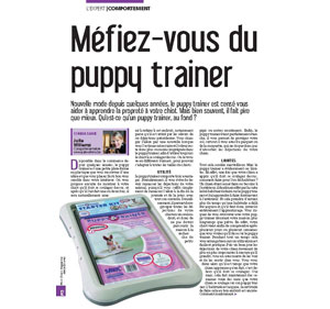 Le puppy trainer, document rédigé par Julie Willems, comportementaliste chiens sur Bruxelles