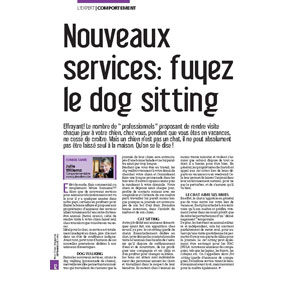 Dog sitting, document rédigé par Julie Willems, dog behaviorist sur Bruxelles