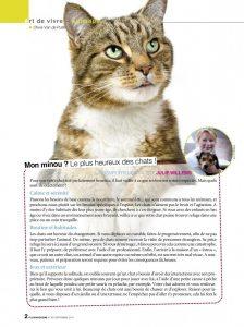 Le plus heureux des chats - article - Plus Magazine septembre 2014