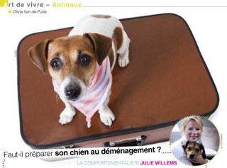 Je déménage avec mon chien, Julie Willems, comportementaliste pour chiens