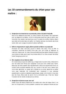 Les 10 commandements du chien pour son maitre - Mars 2013_Page_1