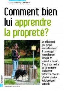 L'apprentissage de la propreté - Mon chien magazine - Janvier 2010_Page_1