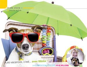 Chien en vacances avec son maître, article rédigé par Julie Willems, comportementaliste canin sur Auderghem