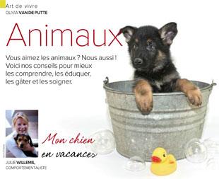 Mon chien en vacances – Plus Magazine – Juillet-Août 2015