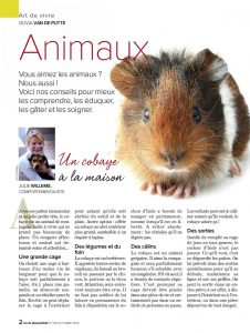 Un cobaye à la maison - article Plus Magazine - Julie Willems, Comportemantaliste animalier Bruxelles