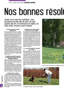 Les bonnes résolutions pour 2012 - Julie Willems , comportementaliste canin - Mon chien magazine - Janvier 2012 Page 1