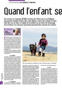 Quand l'enfant se fait mordre, article Mon chien magazine, Julie Willems, Janvier 2012