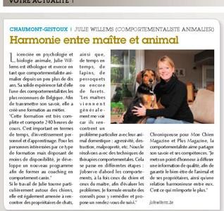 Harmonie entre maître et animal – Union et actions – 12 juin 2015