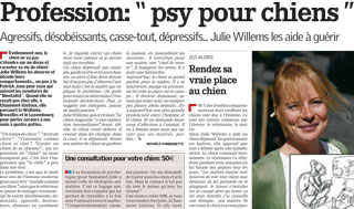 Psy pour chiens, interview de Julie Willems, comportementaliste chiens Bxl