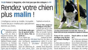 Rendez votre chien plus malin – Telepro – 20 mai 2012