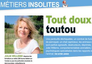 Métiers du chien, interview de Julie Willems, comportementaliste chiens sur Bxl