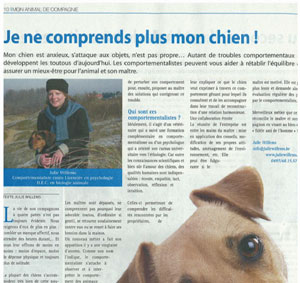 Comprendre son chien, Julie Willems, éthologue-comportementaliste canin