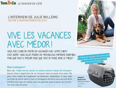 vacances avec son chien, Interview de Julie Willems, éthologue - comportementaliste canin