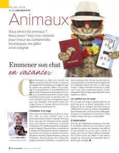 chat vacances, Article de Julie Willems, éthologue-comportementaliste canin