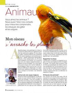 Mon oiseau s'arrache les plumes, rédigé par Julie Willems, comportementaliste canin