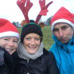 Les trois organisateurs à la balade canine de Noël