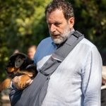 Chiot Rottweiler dans les bras