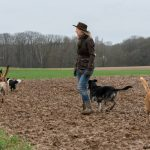 Julie Willems en balade canine