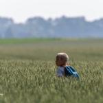 Jeune garçon dans les champs