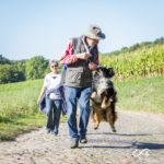 Moment de complicité entre un chien et son maître